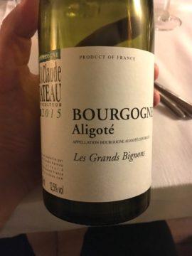 """Bourgogne Aligoté """"Les Grands Bignons"""" 2015, J. Claude Rateau"""