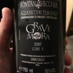 La leggerezza di 16 gradi alcolici: il Grave Mora 2007, per esempio