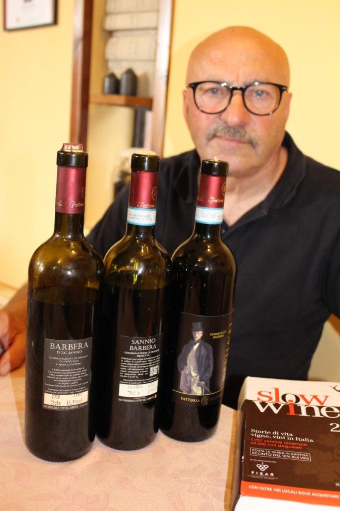 Antonio Ciabrelli e la sua Barbera del Sannio aka Camaiola